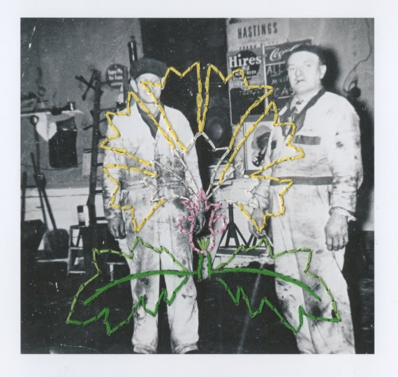 The Craftsmen 2 (Mechanic Series) Embroidered Photograph - Patrick Bodnar    #art #embroidery #photography