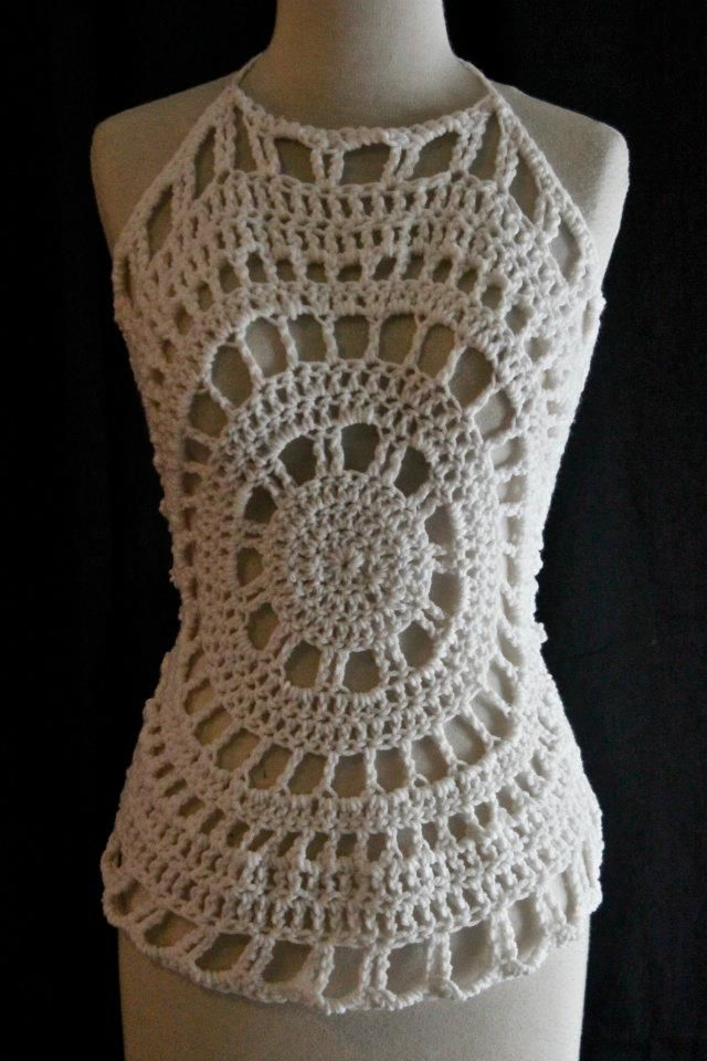 Crochet Free Pattern Halter Top : ? positivelylace Crochet - clothing Skirts, Tops etc ...