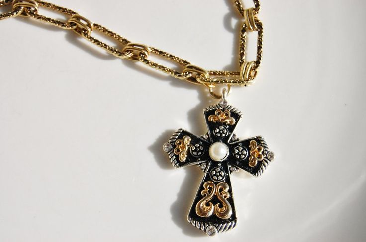 Gold Cross Necklace by Oliver & Django Jewelry Handmade Jewelry For Her