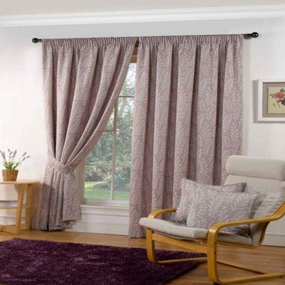 Sundour Marlborough Heather Lined Pencil Pleat Curtains- | Debenhams