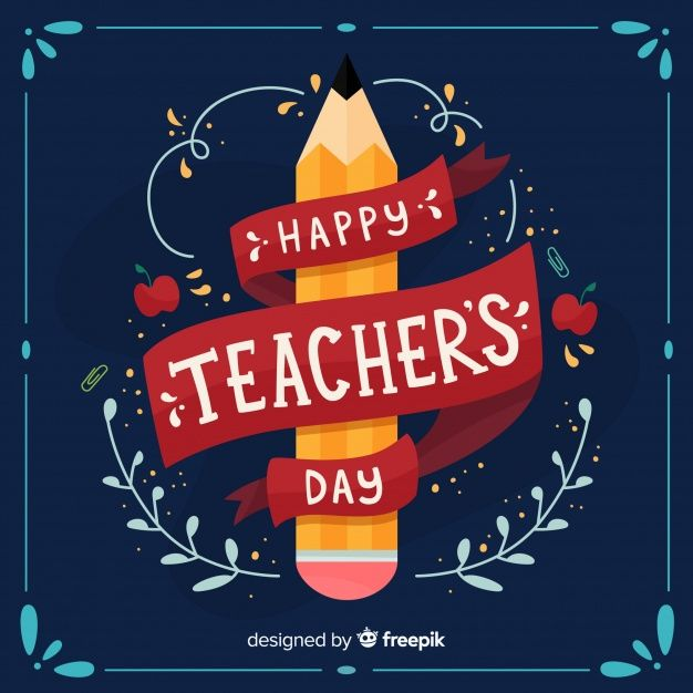 Download Happy World Teacher S Day Background With Lettering For Free Happy Teachers Day Wishes World Teacher Day Teachers Day Poster