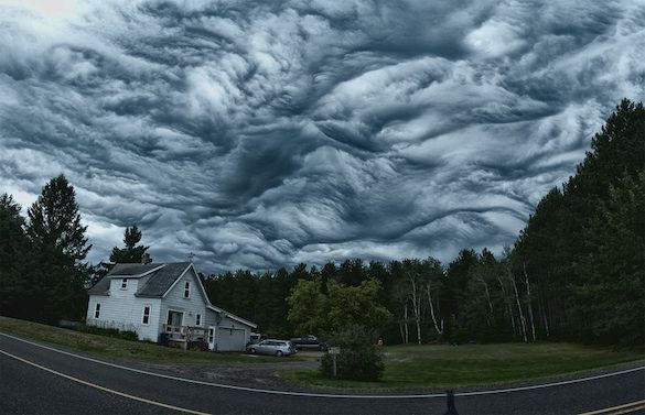 The wild, wave-like patterns of undulatus asperatus make them look more like storms at sea than cloud formations.