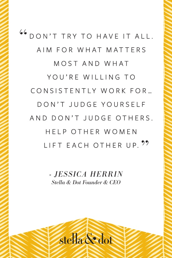 Sharing a quote from our Founder & CEO, Jessica Herrin on CNN's 'Women in The Workplace'