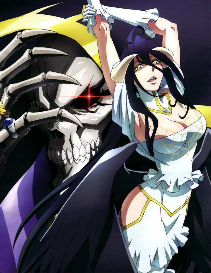 Albedo And Ainz Ooal Gown Overlord In 2020 Anime Wallpaper Albedo