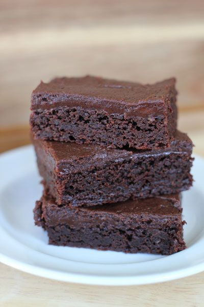Fudge Brownies with Cream Cheese Fudge Frosting.  WOAH LADY!!  These are amazing!