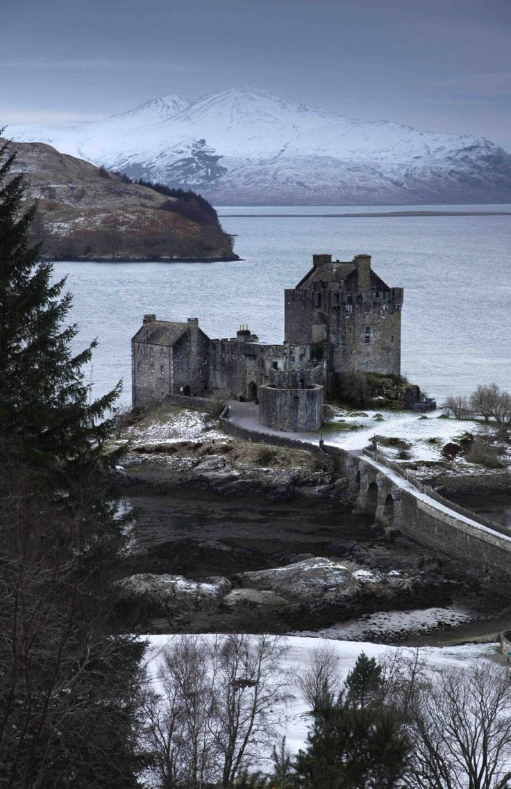 Eilean Donan Castle in winter, Scotland.
