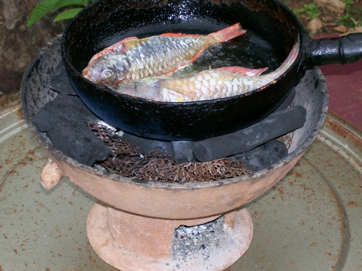Parrot Type Of Fish Frying On A Coal Stove In 2019