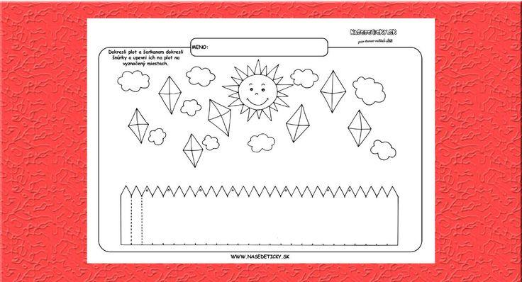 Grafomotorika. Kreslíme plot. - Aktivity pre deti, pracovné listy, online testy a iné