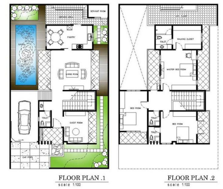 879+ Denah Rumah Type 36 2 Lantai | Denah rumah ...