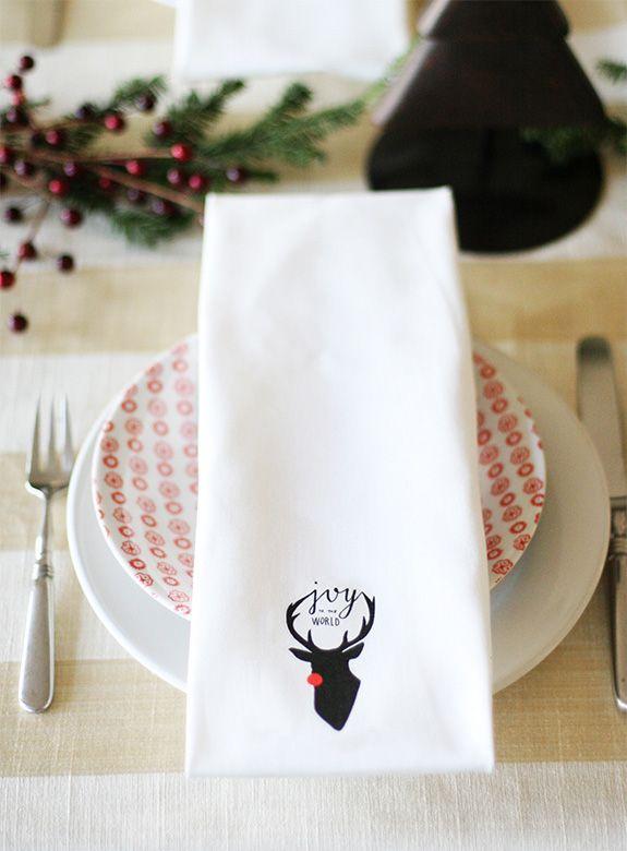 Hmm.. Maybe I should make Christmas napkins. I don't like these but I like the idea