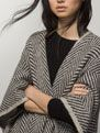 JACQUARD CAPE - View all - Sweaters & Cardigans - WOMEN - United States - Massimo Dutti