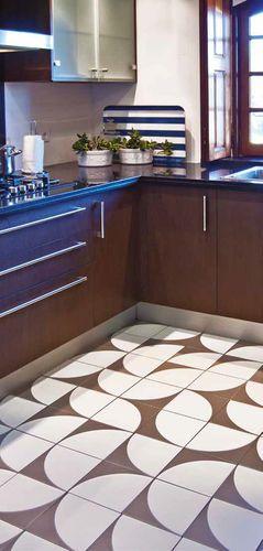 Carrelage de cuisine / de sol / en grès cérame / poli NEOCIM® :  LUNE GRAPHITE Kerion