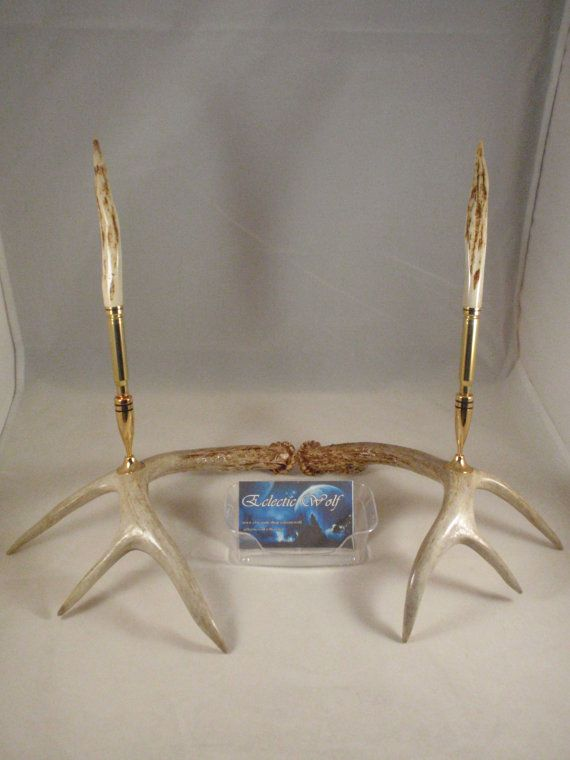 These 6 Pieces Of Colorful Furniture Are Absolute Must Haves: Whitetail Deer Antler Desk Set 3006 Bullet Pen By