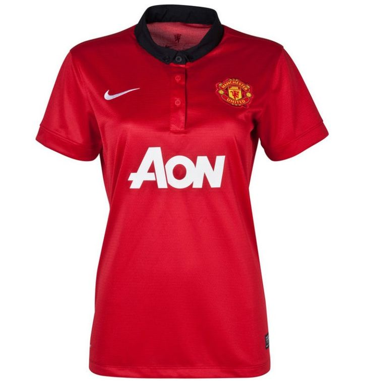 #maillotfemme Manchester United Femme Maillot Football Domicile 2013/2014 Nike Collection