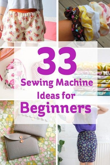 33 Sewing Machine Ideas for Beginners #sewing #beginner #projects