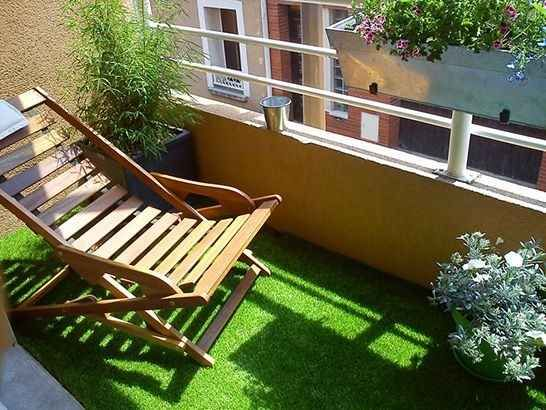 If you want a backyard feel, lay out artificial grass.