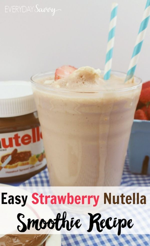 This easy strawberry Nutella recipe makes a yummy treat for kids or adults. It requires just three simple ingredients. All these ingredients are easy to have on hand so you can whip this up easily for an after school snack or a delicious treat.