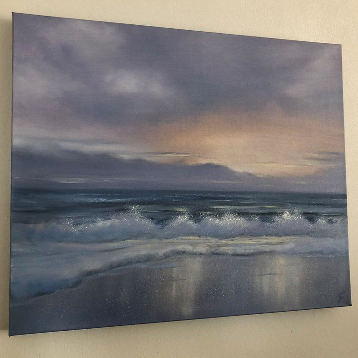 Paradise Found 2018 Oil Painting By Eva Volf Sunrise Painting Beach Painting Painting