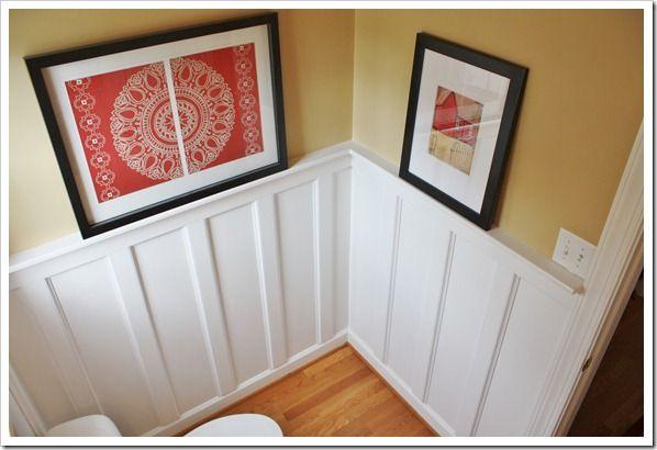 Board and batten bathroom update part 1 batten for Bathroom update ideas