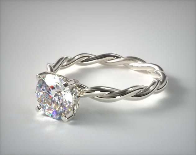 1000 Ideas About Solitaire Rings On Pinterest Round