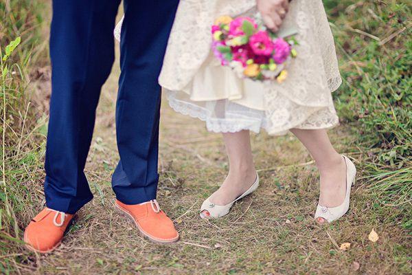 #weddings #shoes #orange