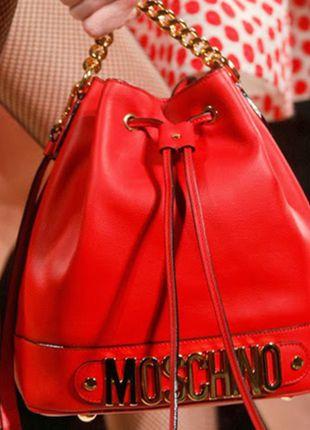 Kup mój przedmiot na #vintedpl http://www.vinted.pl/damskie-torby/torby-na-ramie/11052582-duza-czerwona-torba-worek-moschino