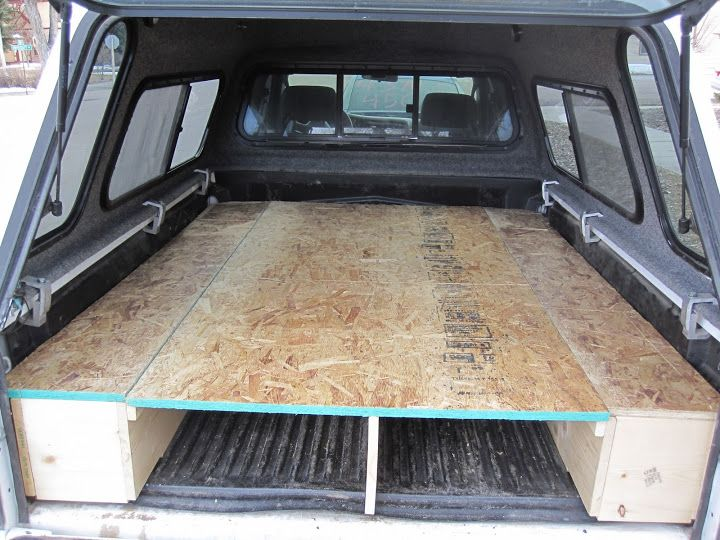 Tacoma sleeping platform carpet kit camping setup yotatech forums rv pinterest the o - Homemade truck bed storage ...