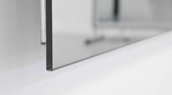 Infrarot Spiegelheizung mit Alurahmen von Vasner