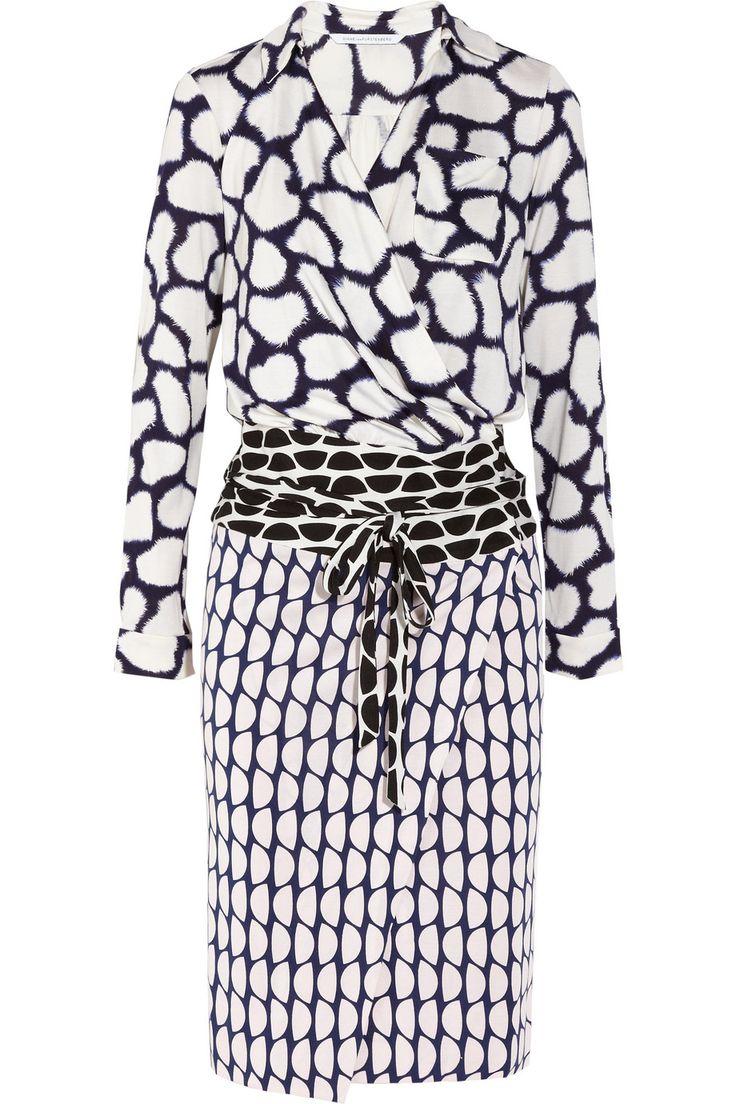 Diane von Furstenberg Terry printed silk-jersey wrap dress NET-A-PORTER.COM ...  oh man..want this in my closet nowwwwww!