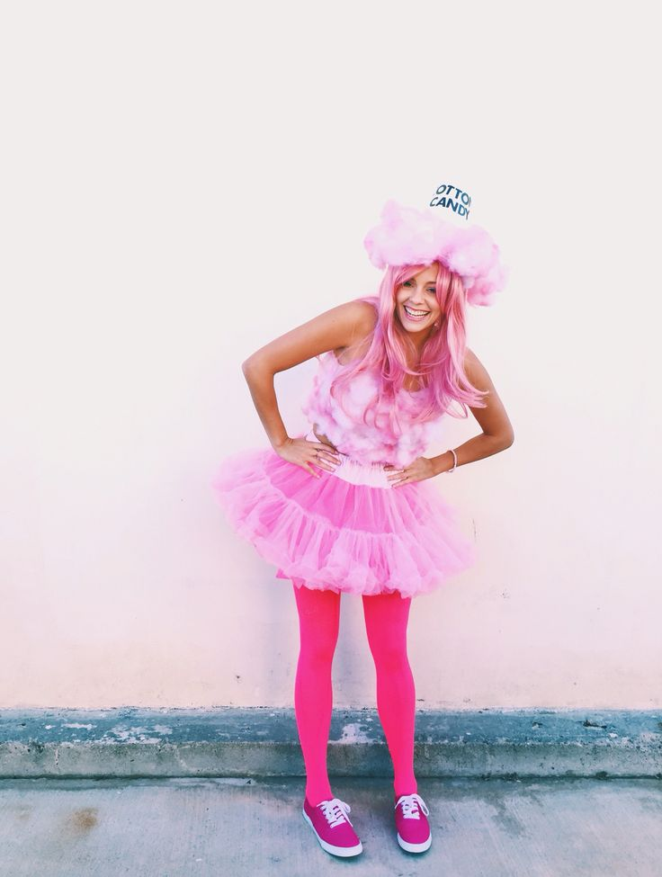 DIY Halloween cotton candy costume