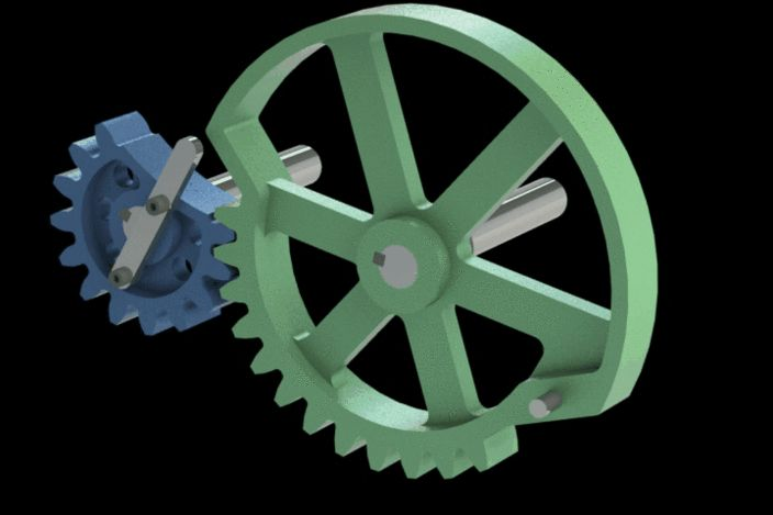 Intermittent cut gears