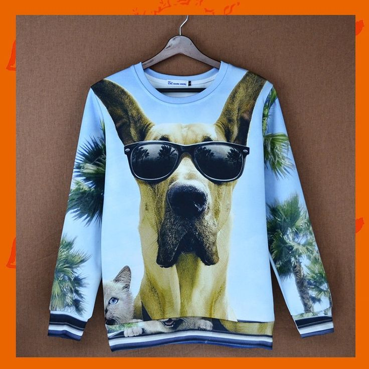 Cool Dog Hoodie Material: Polyester / Cotton Feature: Anti-Pilling, Anti-Shrink, Anti-Wrinkle, Breathable, Eco-Friendly, Plus Size, Quick Dry, Windproof Size: S/M/L