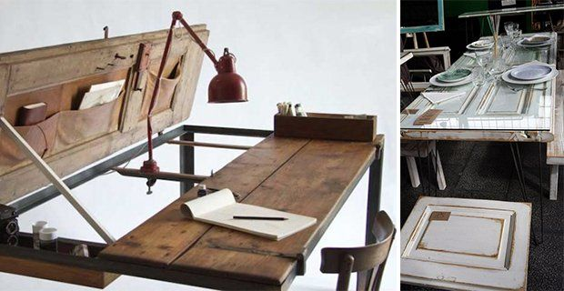 Recycled doors to be used as tables