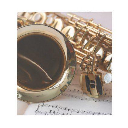 Saxophone Music Gold Gloss Notenblatt Keys Notepad - gold gifts golden diy custom