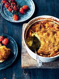 Cauliflower gratin with baked tomatoes