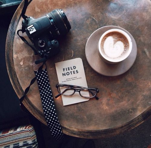Coffee Coffee Coffee, trendy, artsy, photographer, camera, book glasses, travel, coffee shop.