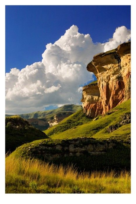 Mushroom Rock, Golden Gate National Park near Clarens, South Africa by Andre Roberge