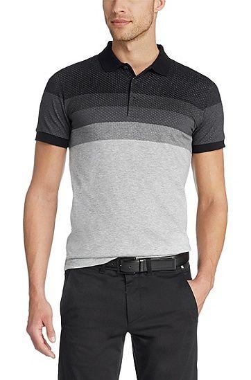 'Paule' | Slim Fit, Cotton Polo Shirt , Black