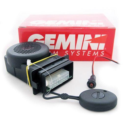 Συναγερμός Moto GEMINI 952.01 Με ΙΣΟΒΙΑ ΓΡΑΠΤΗ εγγύηση Compact σύστημα συναγερμού. Ένα τηλεχειριστήρια δυο καναλιών τυχαία μεταβαλλόμενου κώδικα. Πιεζοηλεκτρική σειρήνα υψηλής ισχύος και μπλοκάρισμα κινητήρα. Ενσωματωμένος αισθητήρας κραδασμού ρυθμιζόμενος μέσω του τηλεχειριστηρίου. Οπτική ένδειξη κα ακουστική ένδειξη. Χαμηλή κατανάλωση. Αδιάβροχη και ανθεκτική στους κραδασμούς κατασκευή. Σχόλια σχόλια