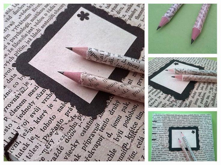 DIY Recyklace - tužky  Pencil, old paper