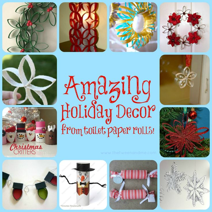 Amazing Holiday Decor from toilet paper rolls (from The Tween & Me)