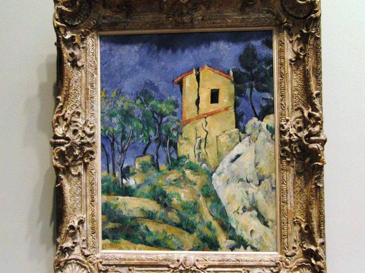 Paul Cézanne, French, 1839-1906, The house with the Cracked Walls, 1892-94, Oil on Canvas
