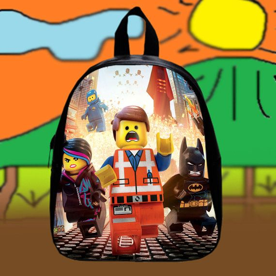 The Lego Movie  Custom SchoolBags Backpack for by KopiHitam55