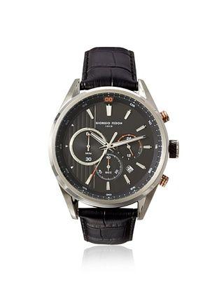 52% OFF Giorgio Fedon 1919 Men's GIOGFBD002 Vintage VI Black Stainless Steel Watch