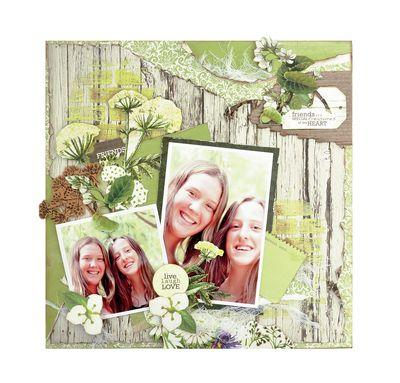 Kaisercraft - Botanica - Friends are Special Treasures