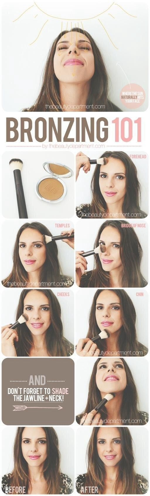 If you want to cover a little bit ground, here's a slightly more comprehensive chart to follow. | Here's How To Use Blush, Bronzer, And Highlighter Like A Pro