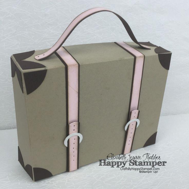 Stampin Up, Vintage, 3D, suitcase, matchbox