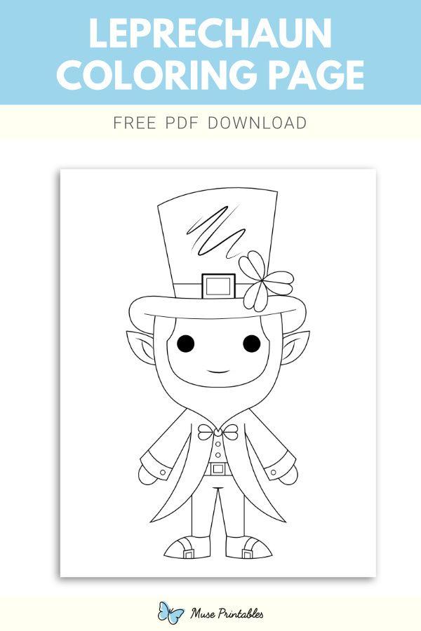 Free Leprechaun Coloring Page Coloring Pages Leprechaun Printables