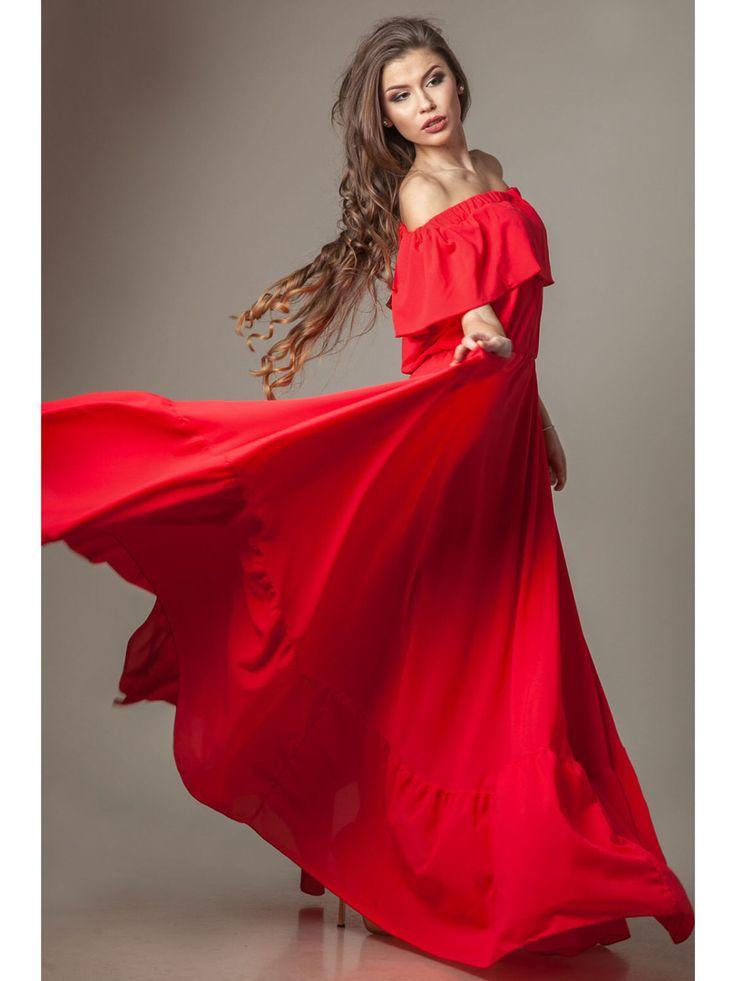 Maxi robe de mousseline de soie rouge, plus de 15 couleurs d'été longue robe femme robe de soirée par AnastasiaBarbouche sur Etsy https://www.etsy.com/fr/listing/276934048/maxi-robe-de-mousseline-de-soie-rouge