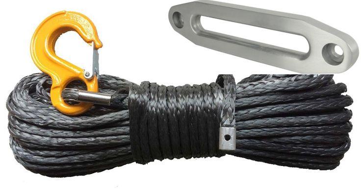 Corde synthétique 10mm x 30m grise + ecrubier aluminium -   ref: Synth10+ecubier   PacK 1 Corde synthétique pour treuil, diamètre 10mm longueur 30m couleur grise avec crochet jaune Pour un treuil infèrieure 6 tonnes + 1 Ecubier Aluminium pour treuil 4x4 couleur alu   #treuil #treuil74 #Cordes Synthétiques treuils #4X4 #quad #SSV  http://www.treuil74.fr/4x4/11768-corde-synthetique-10mm-x-30m-grise-ecrubier-aluminium.html  10%---209,90 €